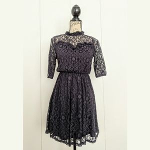 NWOT Monteau Lace See-Through Sleeves Dress